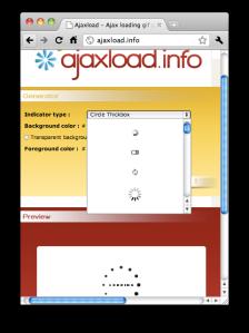 Ajaxload.info Web Page